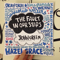 The Fault In Our Stars colored collage