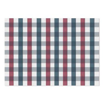 patriotic plaid large business card