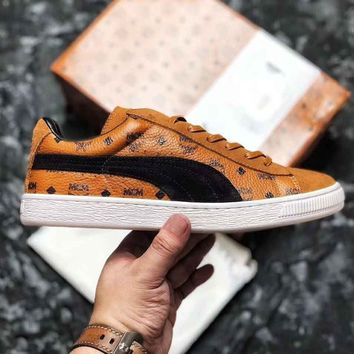 MCM X PUMA Trending Sneakers Flat More Print Shoes B-CSXY Brown