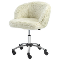 Office Fur Task Chair in Light Cream