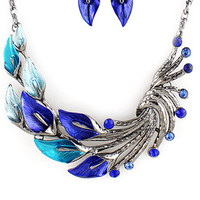 Phoenix Earrings and Necklace Set