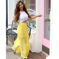 Yellow Maxi Skirt - Sunflower