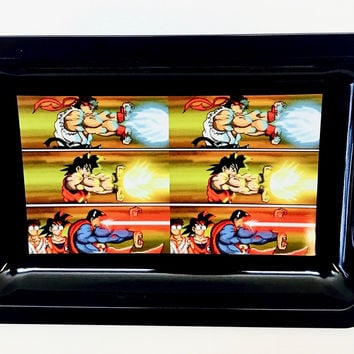 Colorful Metal Rolling Tray - Street Fighter