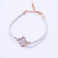 White Cross Bracelet