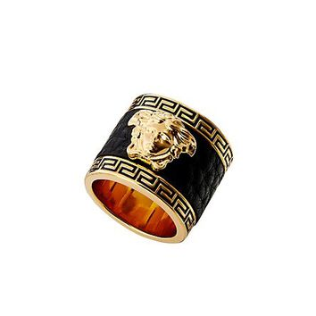 Versace - Leather Medusa Ring