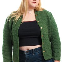 Vintage 70's Forest Green Cardigan - XL