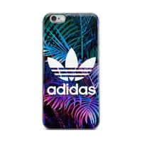 Adidas Logo LED Color Lights On Plants In Forest Cute Beautiful Green White Blue & Purple iPhone 4 4s 5 5s 5C 6 6s 6 Plus 6s Plus 7 & 7 Plus Case