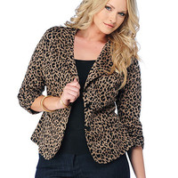 Plus Size Leopard Jacket | Sexy Clothes Womens Sexy Dresses Sexy Clubwear Sexy Swimwear | Flirt Catalog