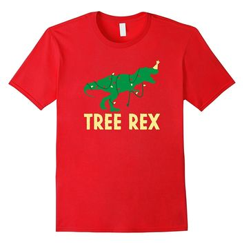 Christmas Dinosaur Shirt- Funny Tree Rex Lights Holiday Gift