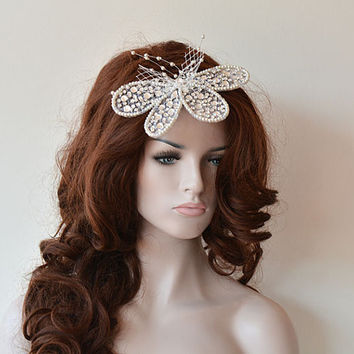 Vintage-İnspired Hairpiece, Unique Wedding Headband, Bridal Headpiece, Wedding  Hair Accessory, Bridal Hair Accessory
