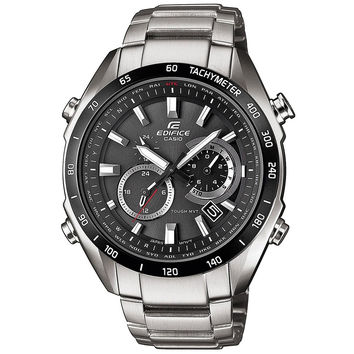 Casio - Men's Edifice Stainless Steel Solar-Powered Chronograph Watch EQW-T620DB-1AER