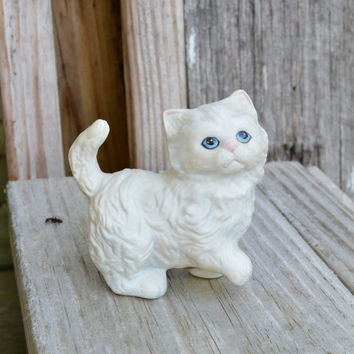 Homco Cat Figurine, Home Decor, Vintage, Collectible