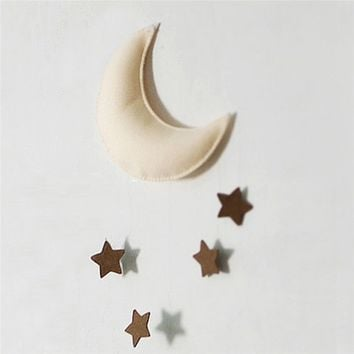 Moon & Star Children's Room Decor Tent Baby Bed Hanging Toys  Home Decoration