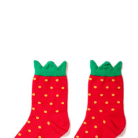 Hansel from Basel socks - Strawberry crew red
