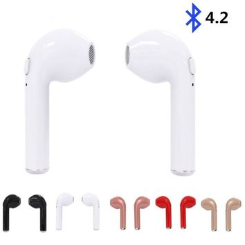 Mini i7 TWS Twins Wireless Bluetooth Earbuds In-ear Earphone for iPhone Samsung