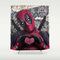 Dead pool - Sweet superhero Shower Curtain by S.Levis   Society6