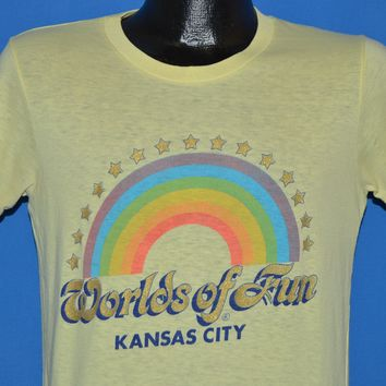 80s Worlds of Fun Kansas City Rainbow t-shirt Medium