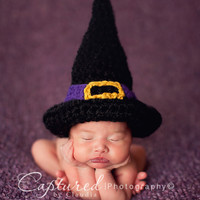 Hocus Pocus Witch Hat Newborn Photography Prop Halloween