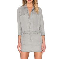 Etienne Marcel Long Sleeve Dress in Silver