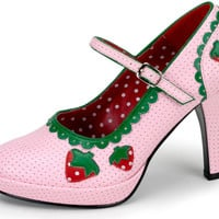 Strawberry High-Heel Adult Shoes