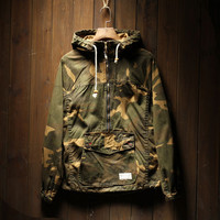 Vintage Men's Camo Military Jackets with Hood
