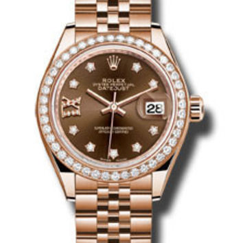 Rolex - Datejust Lady 28 Everose Gold - Diamond Bezel