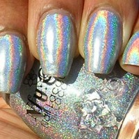 NFU OH Nail Polish SILVER Holographic Number 61