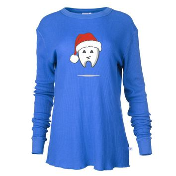 Funny Dental Hygienist Christmas Tshirt Mens/ Womens Boyfriend Long Sleeve Thermal
