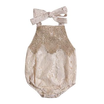 Baby Girl Summer Lace Romper Toddler Kids Baby Clothes Infant New Arrival Jumpsuit  Clothing For Newborns
