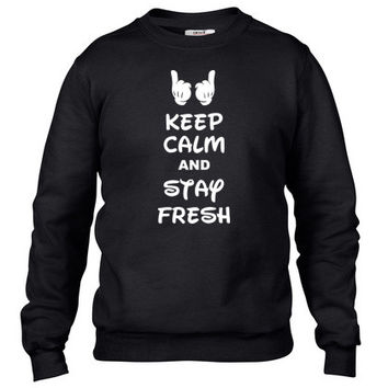keep calm and stay fresh Crewneck sweatshirt