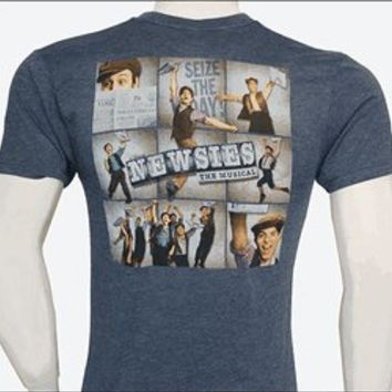 Newsies the Broadway Musical - Nine Panel Logo Art T-Shirt