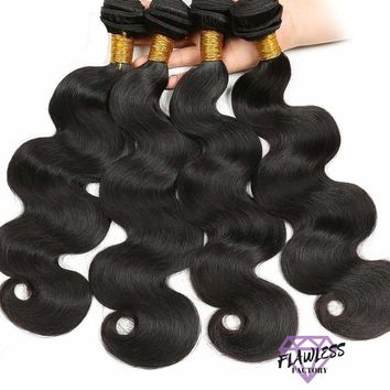 4 Bundles of Peruvian Body Wave Hair Extensions