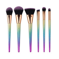 Ombre Glitter Makeup Brush Set