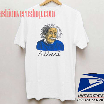 Albert Einstein Smile Unisex adult T shirt