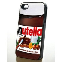 Nutella Black Sides Hard Plastic Slim Snap On Case for iphone 4/4s