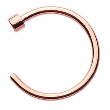 Rose Gold Colored PVD Nose Hoop Ring