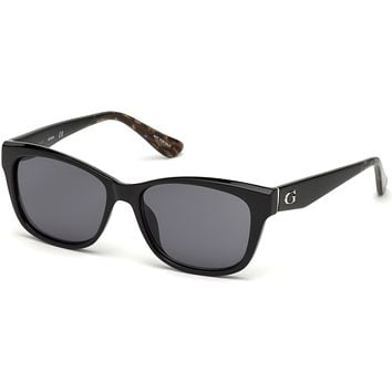 Guess - GU7538 Shiny Black Sunglasses / Smoke Lenses