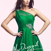 Mac Duggal 81703 - Emerald Illusion One Shoulder Homecoming Dresses Online