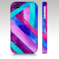 iphone 5 case iPhone 4s case, iPhone 4 case, watercolor geometric, tribal aztec, pink purple aqua turquoise,  art for your phone