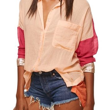 Free People Rainbow Rays Shirt | Nordstrom