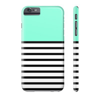 Turquoise Striped Pattern Phone Case