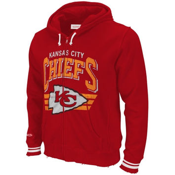 Mitchell & Ness Kansas City Chiefs Stadium Full Zip Hoodie - Red