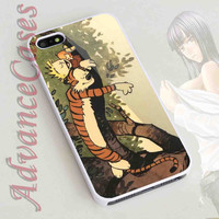 iPhone 4/4S Case, iPhone 5/5S, 5C Case and Samsung Galaxy S3 i9300, S4 i9500 Case - Design Calvin and hobbes