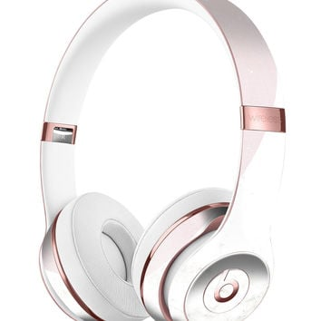 Pale Pink Slanted Marble Surface Full-Body Skin Kit for the Beats by Dre Solo 3 Wireless Headphones