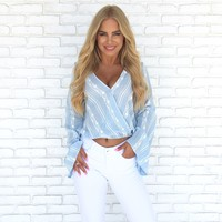 Lost in Paradise Blue Blouse