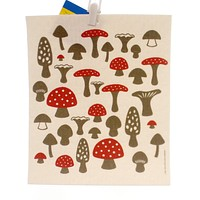 Swedish Dish Cloth MUSHROOMS ALL NATURAL TOWEL Premier Cloth Kitchen 21858