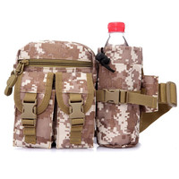 Fashion Outdoor Pocket Nylon Tactical Gear Waist Pack Multi Functional Water Bottle Travel Bags