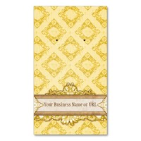 Custom Earring Cards Yellow Vintage Display Cards