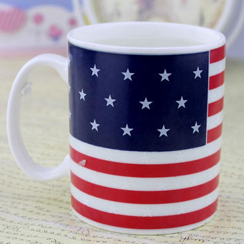 Magical American Flag Discolor Mug Cup Cool Gift