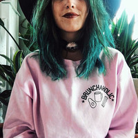 Thicken Pink Punk Boyfriend Hoodies [9522168324]